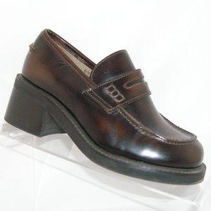 Steve Madden 'Alpha' brown leather loafer 4.5B
